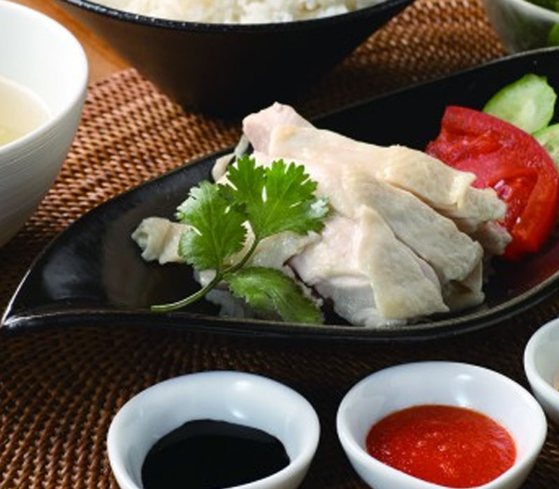 海南チキンライス(スープ、サラダ付) 1,200円(税込)